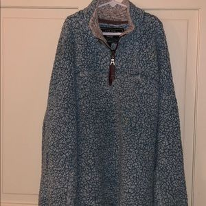 Light blue True Grit pullover- SIZE SMALL